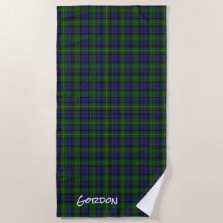 Gordon Clan Tartan Plaid Beach Towel