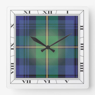 Gordon Clan Tartan Wall Clock