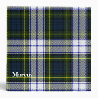 Gordon Dress Custom Tartan Plaid Binder