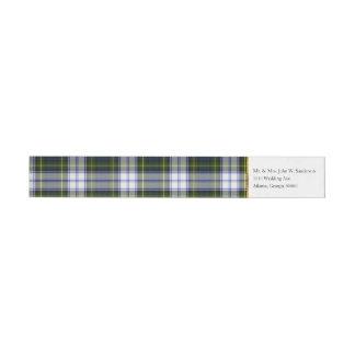 Gordon Dress Plaid Wrap Address Labels