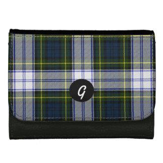 Gordon Dress Tartan Plaid Custom Monogram Wallet