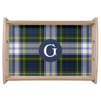 Gordon Dress Tartan Plaid Monogram Serving Tray