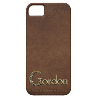 GORDON Leather-look Customised Phone Case iPhone 5 Cases