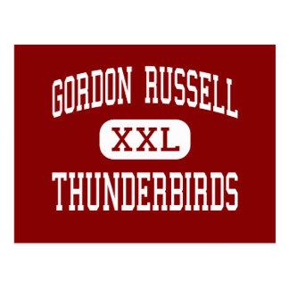 Gordon Russell - Thunderbirds - Middle - Gresham Postcard
