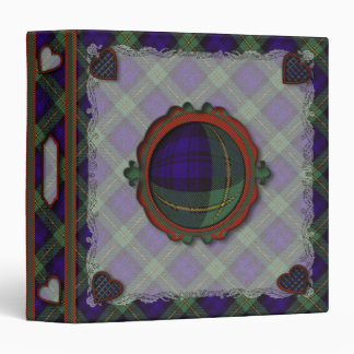 Gordon Scottish clan tartan 1.5 inch spine 3 Ring Binders