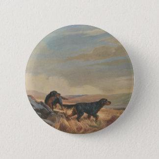 gordon setter antique print button