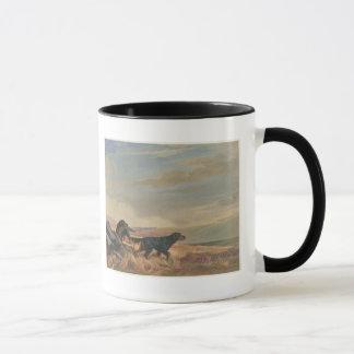 gordon setter antique print ringer ceramic mug