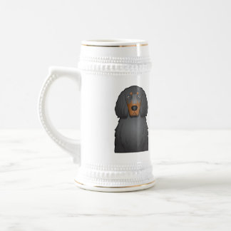 Gordon Setter Cartoon Beer Stein