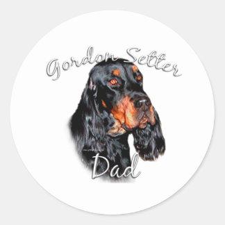 Gordon Setter Dad 2 Classic Round Sticker