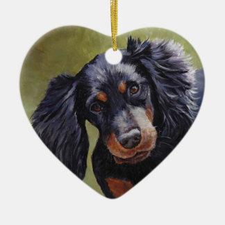 Gordon Setter Dog Art Ornament