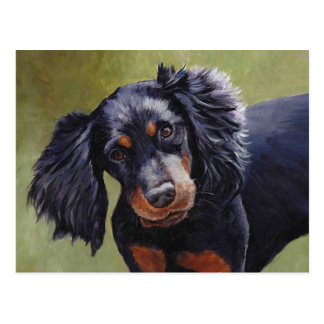 Gordon Setter Dog Art Postcard