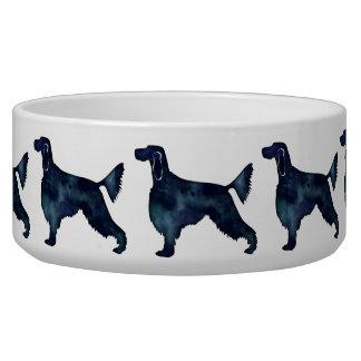 Gordon Setter Dog Black Watercolor Silhouette
