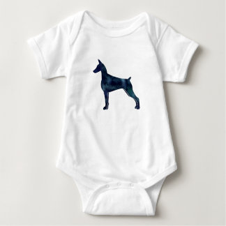 Gordon Setter Dog Black Watercolor Silhouette Baby Bodysuit
