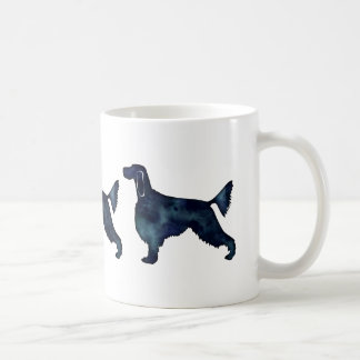 Gordon Setter Dog Black Watercolor Silhouette Coffee Mug