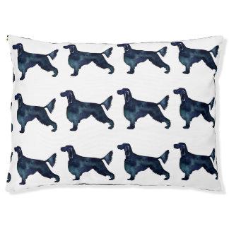 Gordon Setter Dog Black Watercolor Silhouette Pet Bed