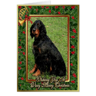 Gordon Setter Dog Blank Christmas Card