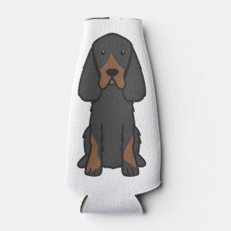 Gordon Setter Dog Cartoon Bottle Cooler