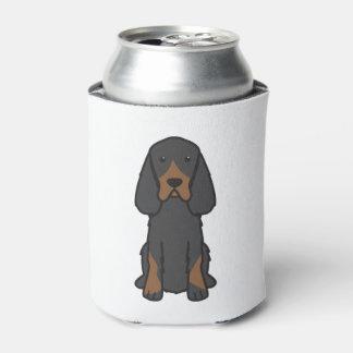 Gordon Setter Dog Cartoon Can Cooler
