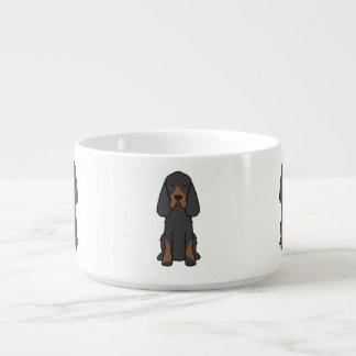 Gordon Setter Dog Cartoon Chili Bowl