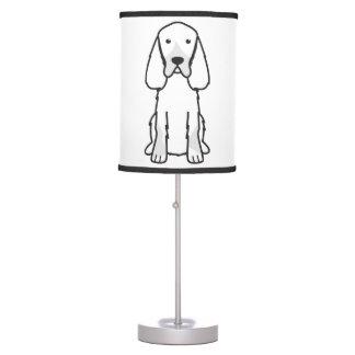 Gordon Setter Dog Cartoon Desk Lamp