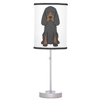 Gordon Setter Dog Cartoon Desk Lamps