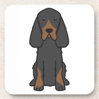 Gordon Setter Dog Cartoon Drink Coasters