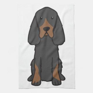 Gordon Setter Dog Cartoon Hand Towels