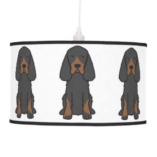 Gordon Setter Dog Cartoon Hanging Pendant Lamps