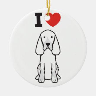 Gordon Setter Dog Cartoon Round Ceramic Ornament