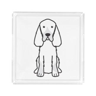 Gordon Setter Dog Cartoon Serving Tray