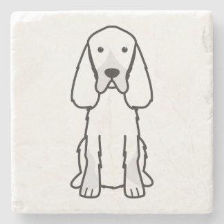 Gordon Setter Dog Cartoon Stone Beverage Coaster