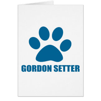 GORDON SETTER DOG DESIGNS CARD