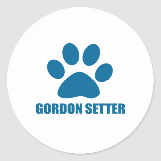 GORDON SETTER DOG DESIGNS CLASSIC ROUND STICKER