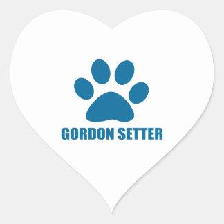 GORDON SETTER DOG DESIGNS HEART STICKER