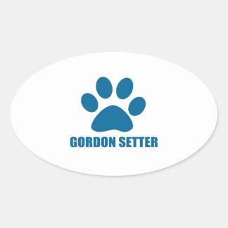 GORDON SETTER DOG DESIGNS OVAL STICKER