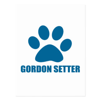 GORDON SETTER DOG DESIGNS POSTCARD