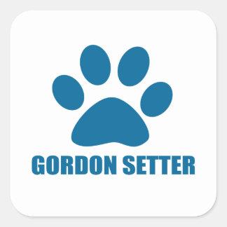 GORDON SETTER DOG DESIGNS SQUARE STICKER