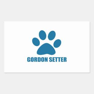 GORDON SETTER DOG DESIGNS STICKER