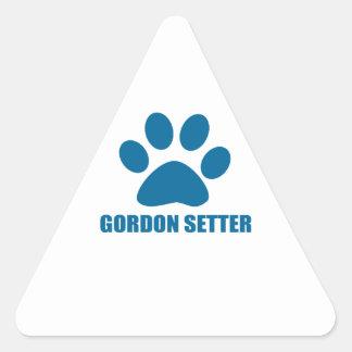 GORDON SETTER DOG DESIGNS TRIANGLE STICKER