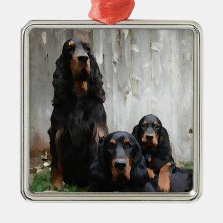 Gordon Setter Generations Painted Ornament