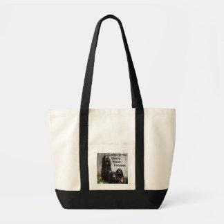 Gordon Setter Generations Painting on a tote bag