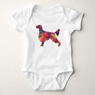 Gordon Setter Geometric Pattern Silhouette Multi Baby Bodysuit