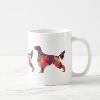 Gordon Setter Geometric Pattern Silhouette Multi Coffee Mug