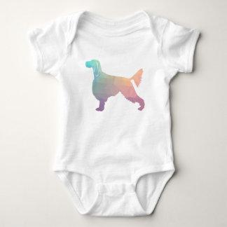 Gordon Setter Geometric Pattern Silhouette  Pastel Baby Bodysuit