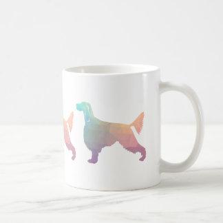 Gordon Setter Geometric Pattern Silhouette  Pastel Coffee Mug