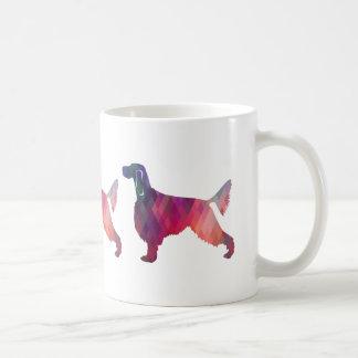 Gordon Setter Geometric Pattern Silhouette Pink Coffee Mug