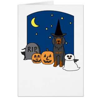 Gordon Setter Halloween Card