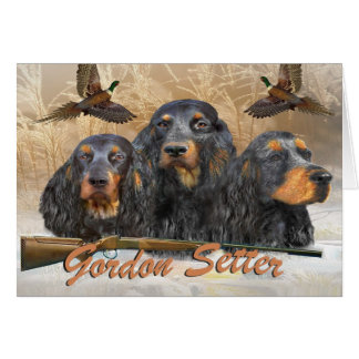 Gordon Setter Hunting Pheasant Card