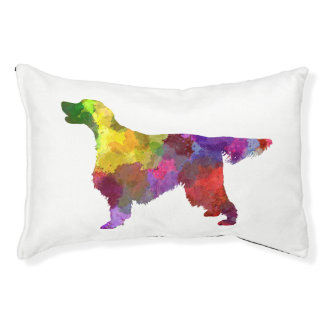 Gordon Setter in watercolor 2 Pet Bed