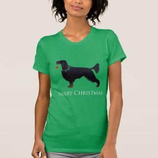 Gordon Setter Merry Christmas Design T-Shirt
